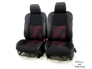 Mazdaspeed3 Mazda 3 Oem Black Leather Red Sport Seats 2010 2011 2012 2013