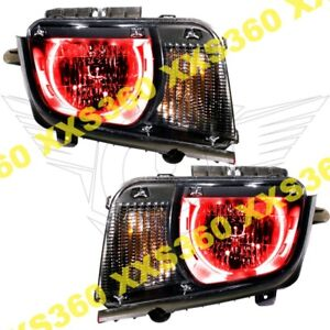 Oracle Halo Headlights Chevrolet Camaro 10 13 Non Rs Only Red Led