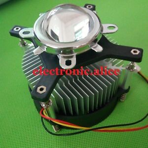 50w 100w High Power Led Heatsink Dc 12v 1 2a Led Cooling Fan 44mm Lens Kit