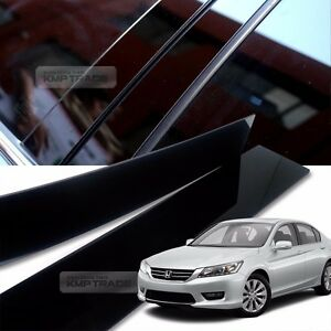 Glossy Black B C Pillar Post Uv Coating Cover 6pcs For Honda 2013 2016 Accord