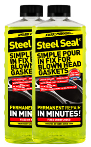 Steel Seal Head Gasket Sealer 32 Oz For 8 Cylinder Cars Free 2 3 Day Shipping