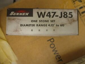 Sunnen W47 j85 One Stone Set For Portable Cylinder Hones New