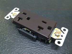 50 Pc New Decorator Duplex Receptacles 20 Amp Brown Self Grounding 20a Outlets