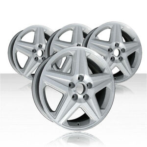Revolve 17x6 5 Machined And Silver Wheel For 2004 2005 Chevy Impala set Of 4