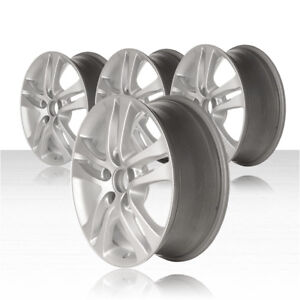 Revolve 17x6 5 Sparkle Silver Wheel For 2010 2011 Honda Cr v set Of 4