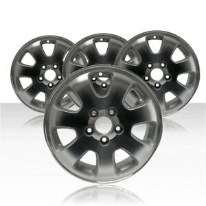 Revolve 16x6 5 Machined And Silver Wheel For 2002 2004 Honda Odyssey Set Of 4
