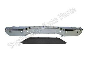 For 2013 2016 Frontier Rear Step Bumper Face Bar Chrome Lower Pad W Sensor Hole