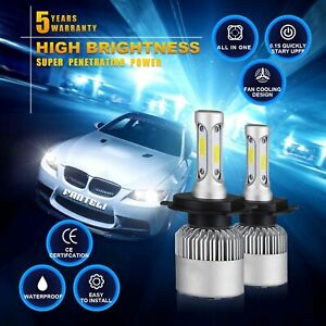120w 12000lm All In One Led Headlight Kit H4 Hb2 9003 High Low Beams 6000k Bulbs