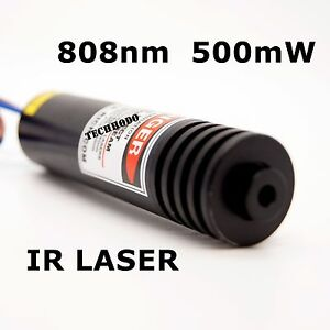 808nm 500mw Focusable Near Ir Dot Laser Module 1 Pcs