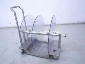 Portable Stainless Steel Cart For Labelling Roll Labelling Machine Labeller
