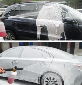 1 4 Adjustable Snow Foam Lance Cannon Washer Bottle Pressure Car Wash Gun Jet