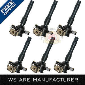 Set Of 6 Ignition Coil 1994 2005 For Bmw 5 Series More C1239 Uf354 12131748017