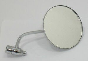Side View Mirror Left Round Fits Volkswagen Type1 Bug 1946 1967