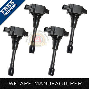 4 Pc Ignition Coil For Nissan Altima Sentra Cube Rogue Versa Infiniti Fx50 Uf549