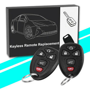 2 New Replacement Entry Remote Keyless Chipped Ignition Car Key Fob For Nissan