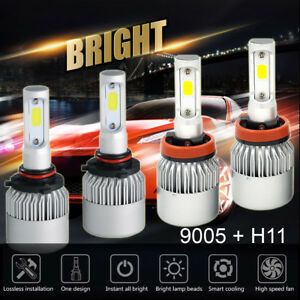 H11 9005 Led Total 1960w 294000lm Combo Headlight High Low 6000k White Kit