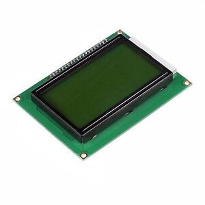 5pcs 12864 Lcd Display Module 128x64 Dots Graphic Matrix Yellow Green Backlight