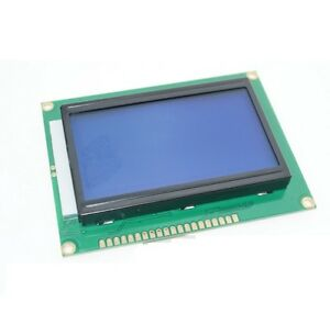 1pcs 5v 12864 Lcd Display Module 128x64 Dots Graphic Matrix Lcd Blue Backlight