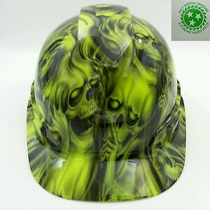 Hard Hat Custom Hydro Dipped Osha Approved See hear No Evil Skulls New