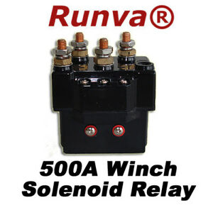 New Runva 500a Electric Winch Solenoid Relay 12v 5000lb To 12000lb