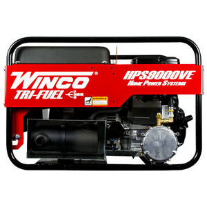 Winco Hps9000ve Home Power Series Portable Generator 9000 Watt Gas 120v Briggs