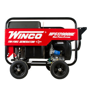 Winco Hps12000he Home Power Series Portable Generator 12000 Watt Honda Gas 120v