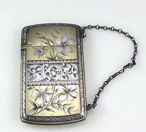 American Aesthetic Sterling Card Case Wood Hughes Butterfly