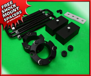 For 99 06 Toyota Tundra 2wd 4wd 3 Front 2 Rear Leveling Lift Kit Blk Billet