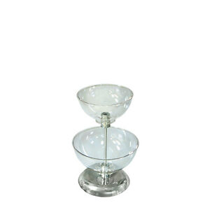 New Retails Clear Two tier Bowl Counter Display 8 10 Diameter