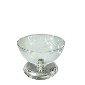 New Retails Clear Polycarbonate Single Bowl Counter Display 10 Diameter 7 5 H