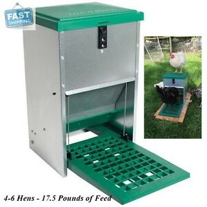 Automatic Treadle Feeder For Chickens Ducks Geese Bantam Poultry Food 17 5 Lb