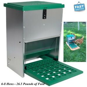 Feeder Poultry Chicken Duck Geese Bantam Treadle Machine Bucket With Lid 26 5 Lb