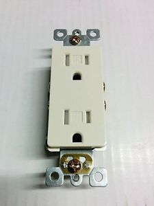 50 Pc 15a Decorator Duplex Receptacles 15 Amp Tamper Resistant Almond Decora Tr