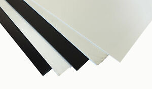 8 Pieces 250 X 12 X 12 White High Impact Styrene Sheet his hiss