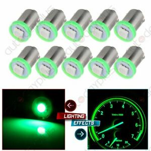 10pcs Bright Green 12v Led Instrument Panel Dash Ba9s 1815 Light Bulb For Chevy