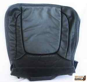 2004 2005 Dodge Ram 1500 2500 3500 Driver Bottom Leather Seat Cover Dark Gray