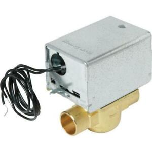 Honeywell 24 Volt Zone Valve 3 4 Sweat Connections Manual Lever No 212790