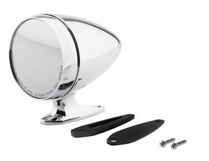 New Mustang Shelby Bullet Style Chrome Mirror Gt350 Cobra Tiger Gt500 Convex Rh