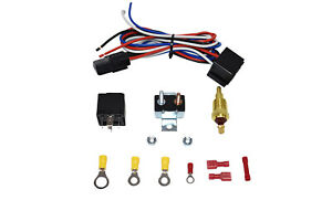 Electric Fan Relay W Thermostat Install Kit Hardware Kit 180 200