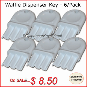 Universal waffle Key For Paper Towel Toilet Tissue Dispensers 6 pk