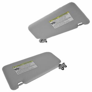 New 2007 11 Toyota Camry Visor Set Left Right Gray Without Sunroof