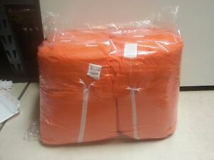 Pack Of 25 Disposable Coveralls Xxxxl orange