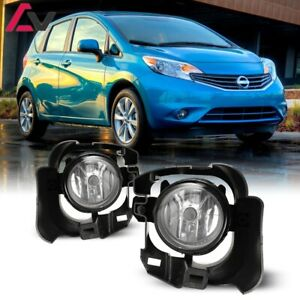 14 16 For Nissan Versa Note Clear Lens Pair Oe Fog Light Lamp wiring switch Kit