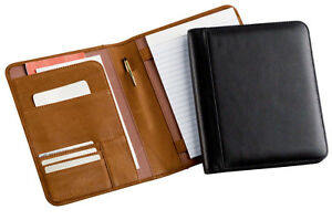 Business Bellino Leather Vintage Junior Quality Memo Meeting Note Pen Padfolio