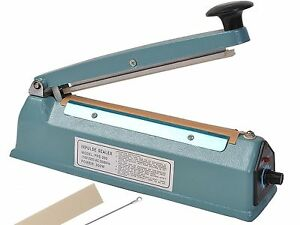 Heat Sealer 100 400mm 4 16 Metal Plastic Bodied Heat Sealer some With Cutter