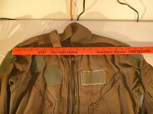 Air Force Uscg Flight Suit Green Cwu 27p Coveralls Flyers Nomex Summer Medium