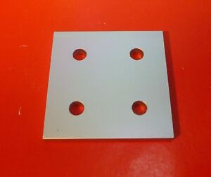 8020 80 20 Equivalent Aluminum 4 Hole Joining Plate 10 Series P n 4167 New