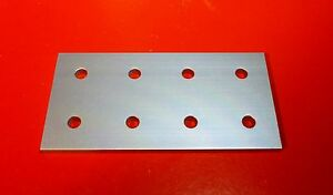8020 80 20 Equivalent Aluminum 8 Hole Joining Plate 10 Series P n 4165 New