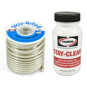 Harris Solder Kit Sb861 Scpf4 Stay brite 8 Silver Bearing Solder With Flux