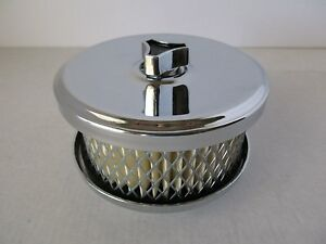 Chrome 4 1 8 Air Cleaner Tri Power Intake 1 Or 2 Bbl Hot Rod Car Truck 2170